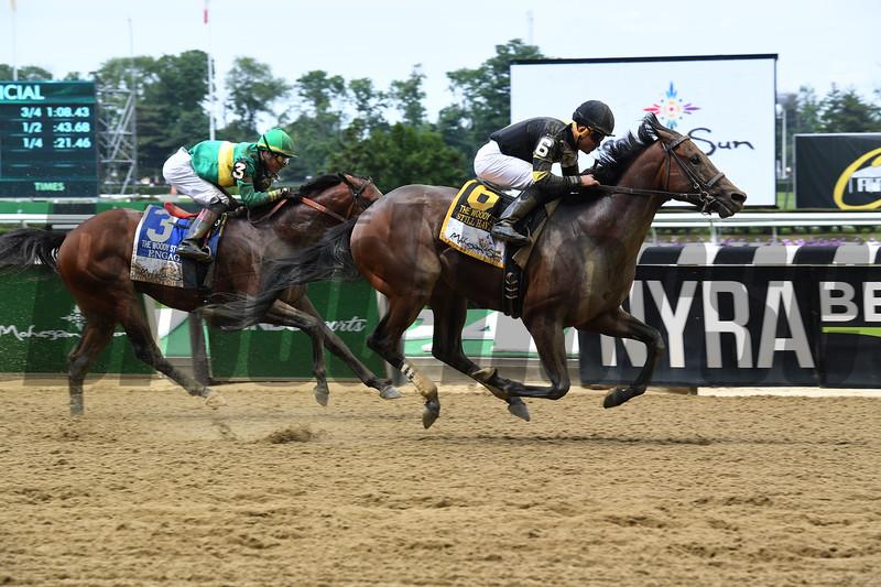 Still Having Fun wins 2018 Woody Stephens Stakes at Belmont Park June 9, 2018. Photo: Coglianese Photos