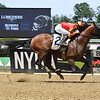 Hoppertunity wins 2018 Brooklyn Invitational Stakes at Belmont Park June 9, 2018. Photo: Coglianese Photo