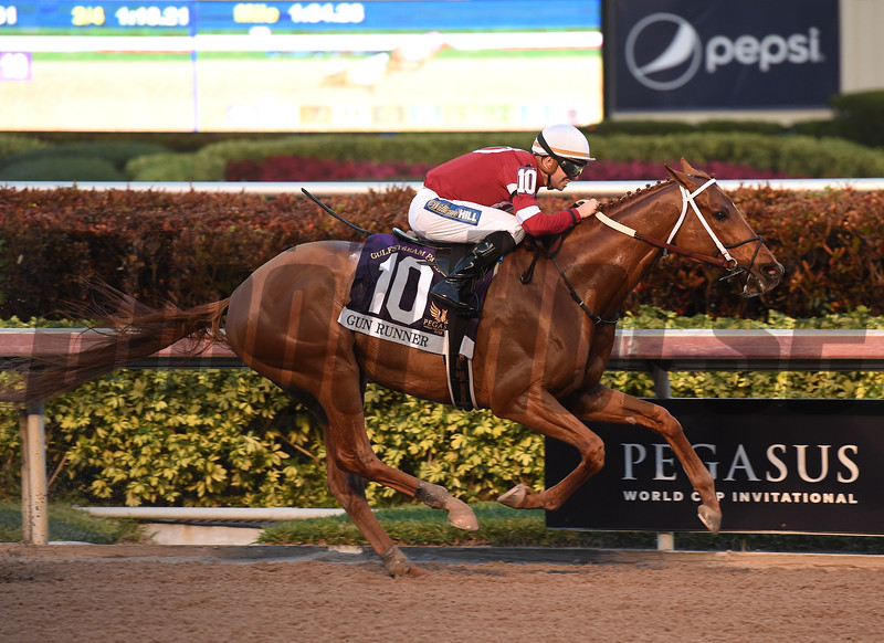 Gun Runner wins the 2018 Pegasus <br /> Coglianese Photos/Leslie Martin