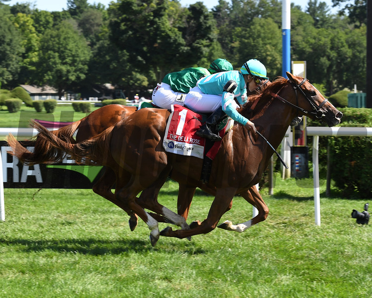 Uni (GB), Irad Ortiz Jr., Fasig-Tipton De La Rose Stakes, $100,000; Saratoga Race Course; August 4; 2018<br /> Coglianese Photos