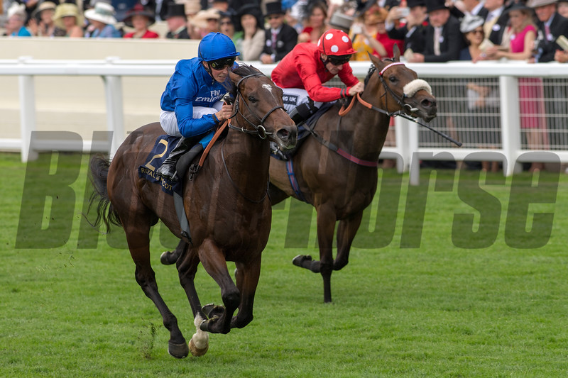 Blue Point, William Buick win the G1 Kings Stand Stakes, Royal Ascot, Ascot UK, 6/19/18, photo by Mathea Kelley