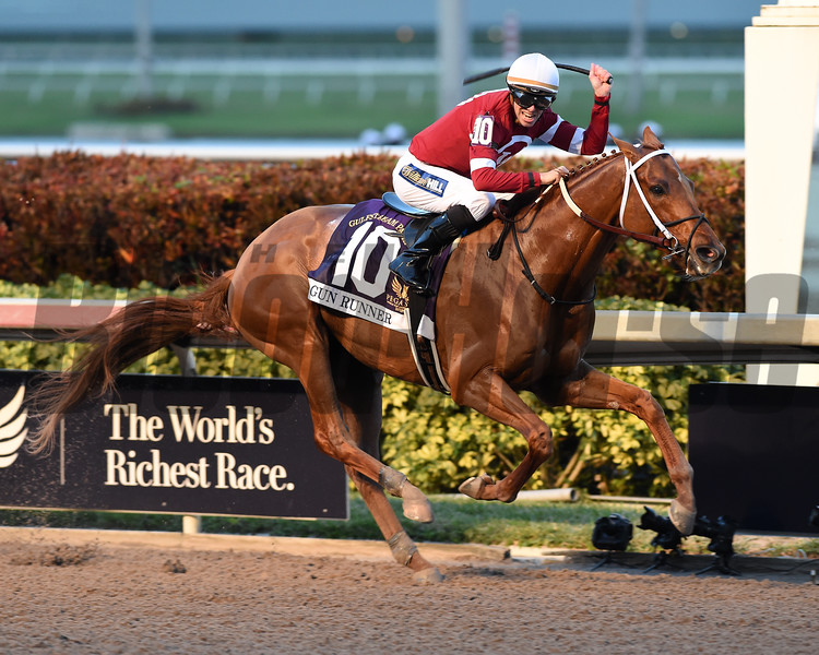 Gun Runner wins the 2018 Pegasus <br /> Coglianese Photos