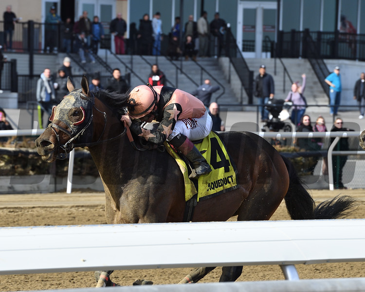 Great Stuff wins the 2018 Toboggan Stakes<br /> Coglianese Photos/Joe Labozzetta