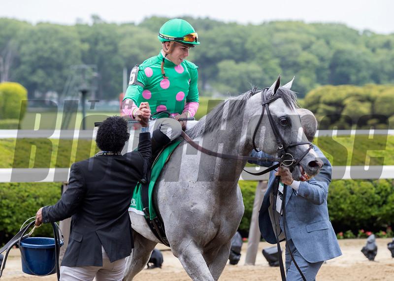 DISCO PARTNER wins The Jaipur Invitational at Belmont Park June 9th 2018, jockey Irad Ortiz Jr up