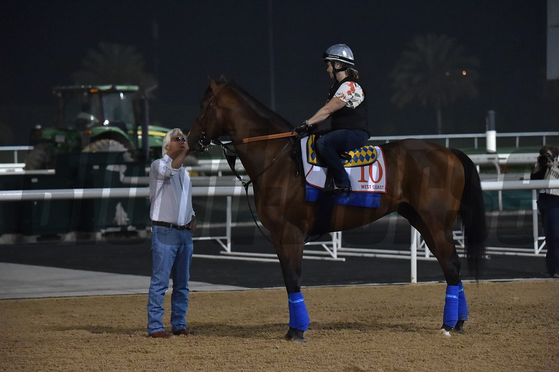 West Coast and Bob Baffert, Dubai, March 30, 2018   <br /> Katsumi Saito Photo