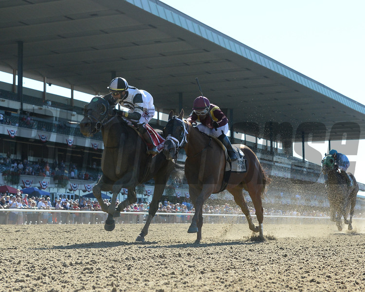 Limousine Liberal wins the Belmont Sprint Stakes Saturday, July 7, 2018. Photo: Coglianese Photos