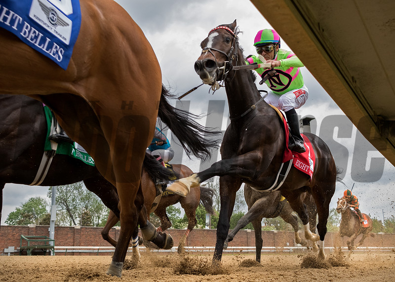 AMY'S CHALLENGE in The Eight Belles G3 at Churchill Downs on May 4th 2018, jockey Gary Stevens up