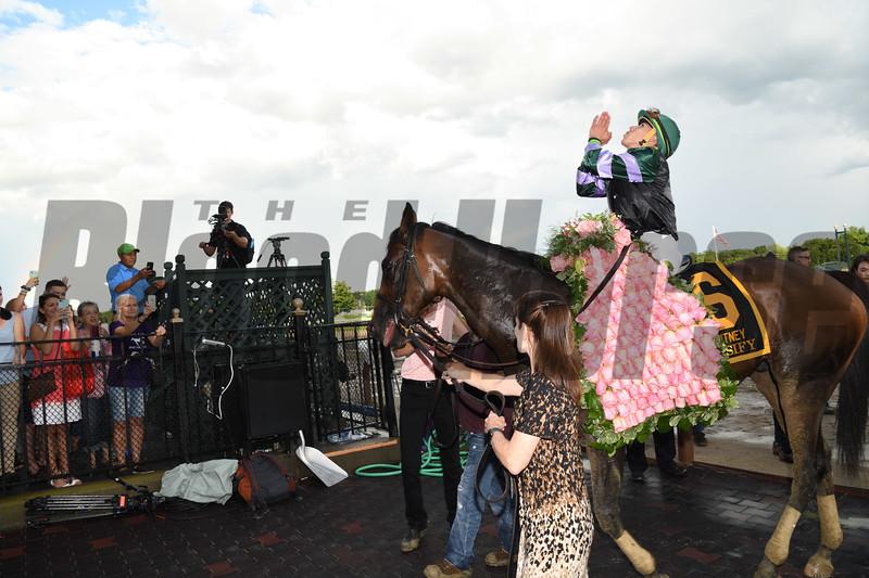 Diversify; Irad Ortiz Jr.; Whitney Stakes; G1; Saratoga Race Course; August 4; 2018<br /> Coglianese Photos