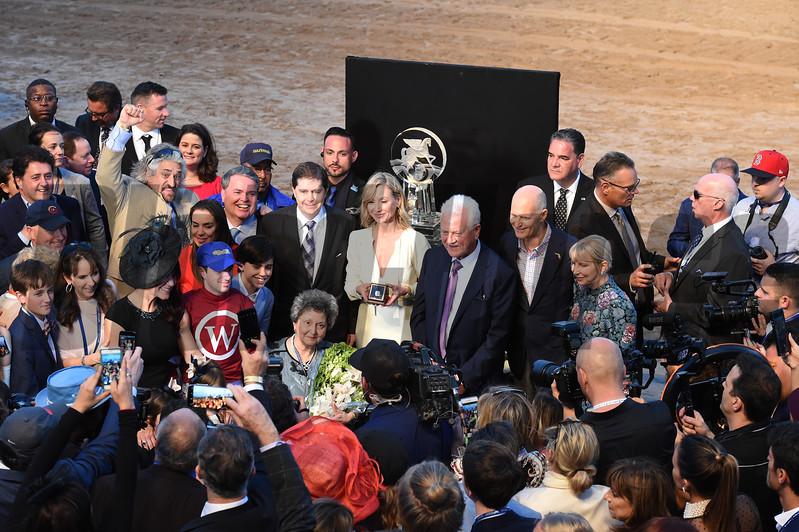 Gun Runner wins the 2018 Pegasus<br /> Coglianese Photos/Leslie Martin