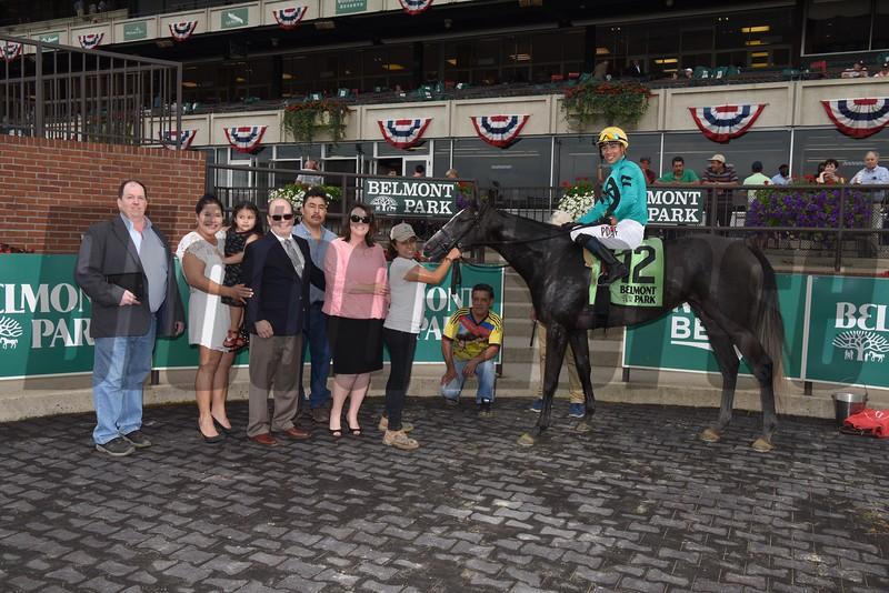 Kreesie wins 2018 New York Stallion Stakes at Belmont Park. Photo: Coglianese Photos