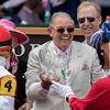 Tropy presentation after BACKYARD HEAVEN win The Alysheba Stakes at Churchill Downs on May 4th 2018, jockey Irad Ortiz Jr up