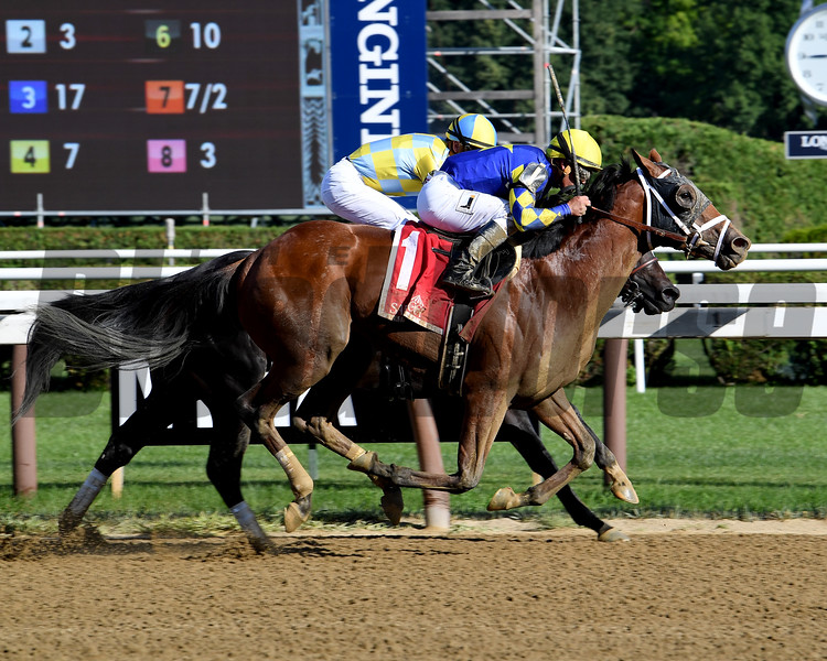 Sombeyay wins the Sanford Stakes at Saratoga Saturday, July 21, 2018. Photo: Coglianese Photos/Viola Jasko
