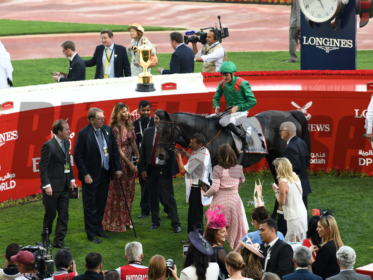 Vaziribad, Christophe Soumillon win the Dubai Gold Cup,  DWC 2018, Meydan Race Course, Dubai, UAE, 3-31-18, photo by Mathea Kelley/Dubai Racing Club