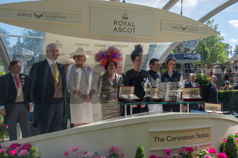 Alpha Centauri, Colm O'Donoghue, win the G1 Coronation Stakes, Royal Ascot; Ascot Race Course; Ascot; UK; 6-21-18; Photo by Mathea Kelley