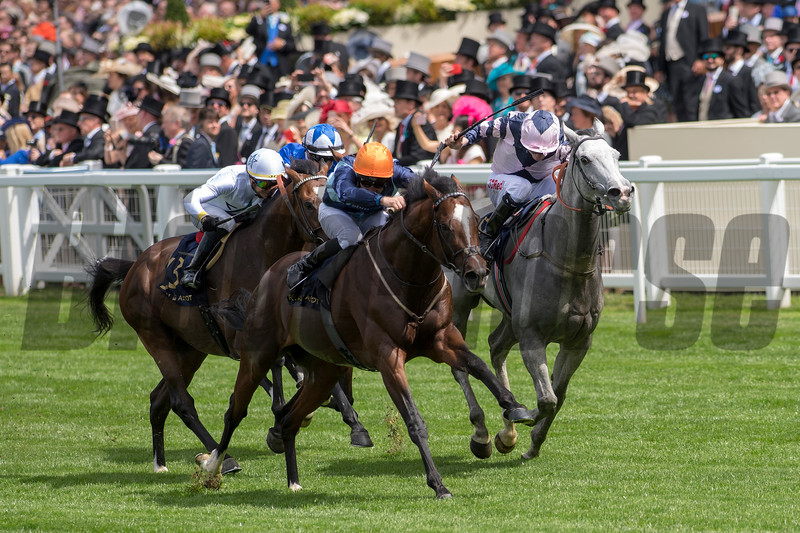 Accidental Agent, Charles Bishiop Jockey, win the G1 Queen Anne Stakes, Royal Ascot, Ascot UK, June 19, 2018. Photo: Mathea Kelley