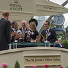 Without Parole, Frankie Dettori win the G1 St James's Palace Stakes, Royal Ascot, Ascot Race Course, Ascot, UK, 6-19-18, Photo by Mathea Kelley, Trophy Presentation, Prince Harry, Princess Meghan, John and Tayna Gunther, John Gosden
