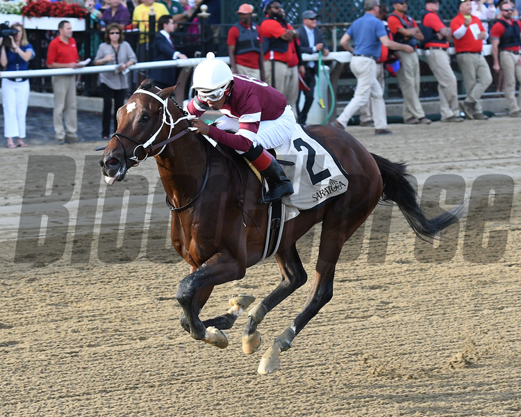Tenfold wins the Jim Dandy Stakes at Saratoga Saturday, July 28, 2018. Photo: Coglianese Photos/Annette Jasko
