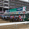 The start of the Longines Kentucky Oaks at Churchill Downs on May 4, 2018.
