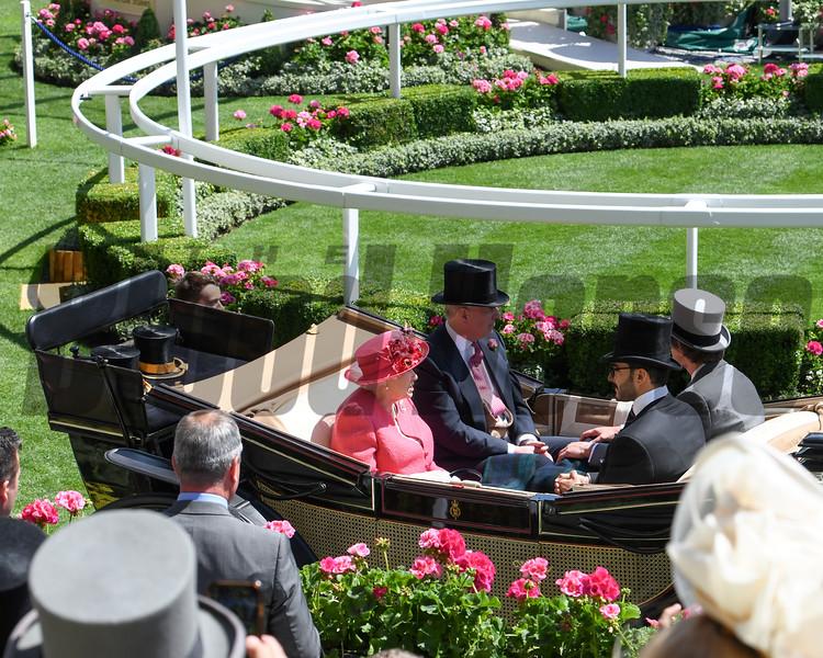 HRH The Queen, Royal Ascot; Ascot Race Course; Ascot; UK; 6-22-18; Photo by Mathea Kelley