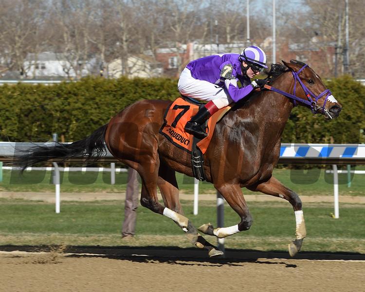 Retonova wins the 2018 New York Stallion Stakes