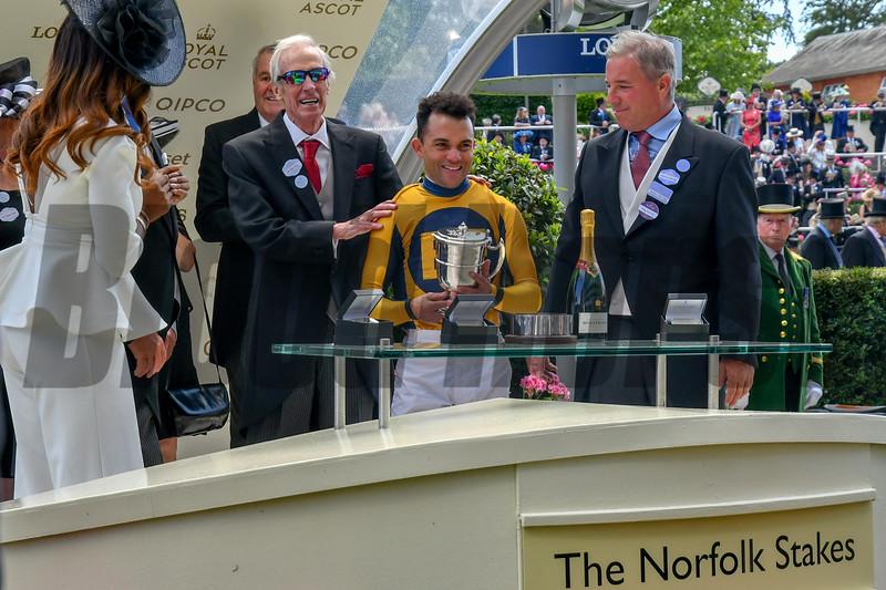 Shang Shang Shang, Joel Rosario, win the G2 Norfolk Stakes, Royal Ascot,, Ascot Race Course, Ascot, UK, 6-21-18, Photo by Mathea Kelley