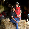 Barn foreman and exrercise rider David Meah with his wife Anna at the barn of Richard Baltas at Santa Anita.