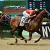 Hoppertunity wins 2018 Brooklyn Invitational Stakes at Belmont Park June 9, 2018. Photo: Coglianese Photo/Susie Raisher