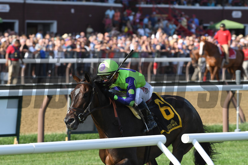 Rushing Fall; Javier Castellano; Lake Placid Stakes; G2T; Saratoga Race Course; August 18; 2018