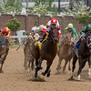 Backyard Heaven (red cap), Irad Ortiz aboard, wins the 15th running of The Alysheba (G2) at Churchill Downs.