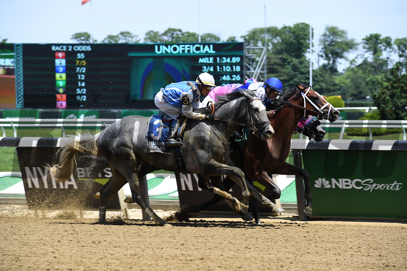 Prince Lucky wins 2018 Easy Goer Stakes at Belmont Park June 9, 2018. Photo: Coglianese Photos