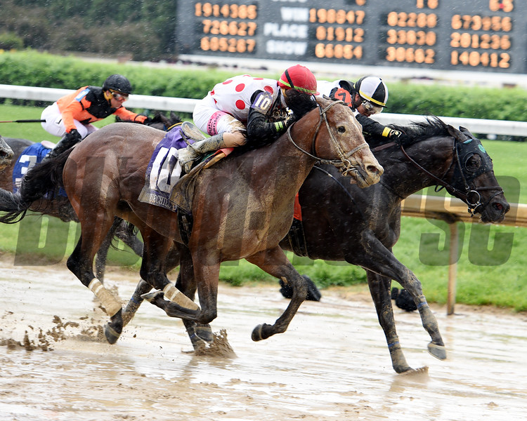 Limousine Liberal and Jose Ortiz winning the Churchill Downs at Churchill Downs on May 5, 2018.           <br /> Dave Harmon