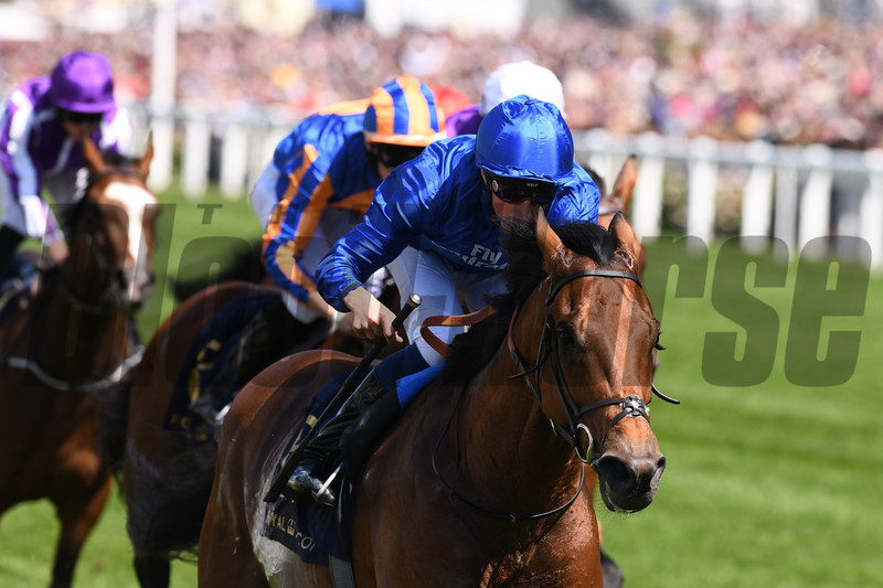 Old Persian; William Buick; win the G2 King Edward VII Stakes; Royal Ascot; Ascot Race Course; Ascot; UK; 6-22-18; Photo by Mathea Kelley
