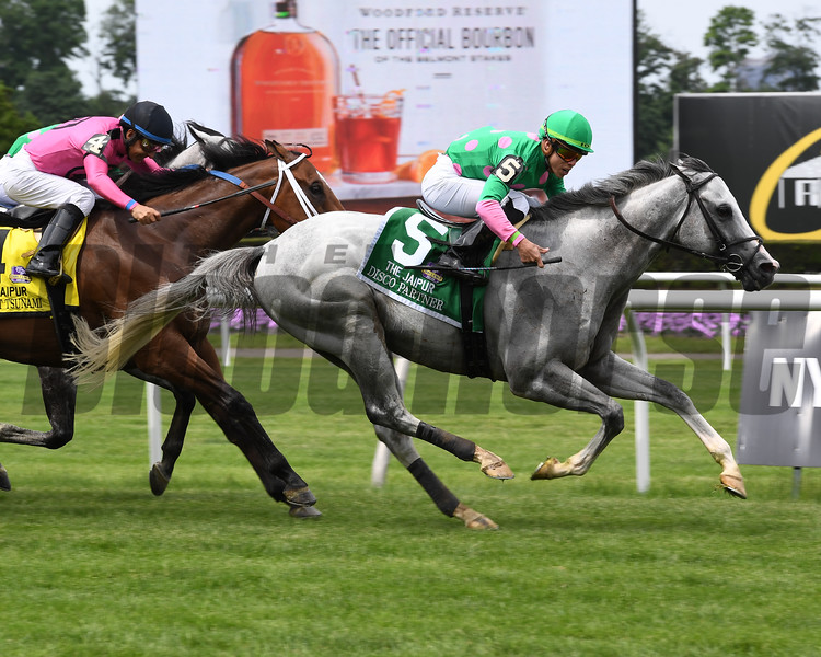 Disco Partner wins 2018 Jaipur Invitational S. at Belmont Park June 9 , 2018. Photo: Coglianese Photo