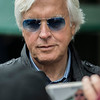 Trainer Bob Baffert poses for a cell phone photo in the barn area of the Pimlico Race Course Friday May 18, 2018 in Baltimore, MD.  Photo by Skip Dickstein