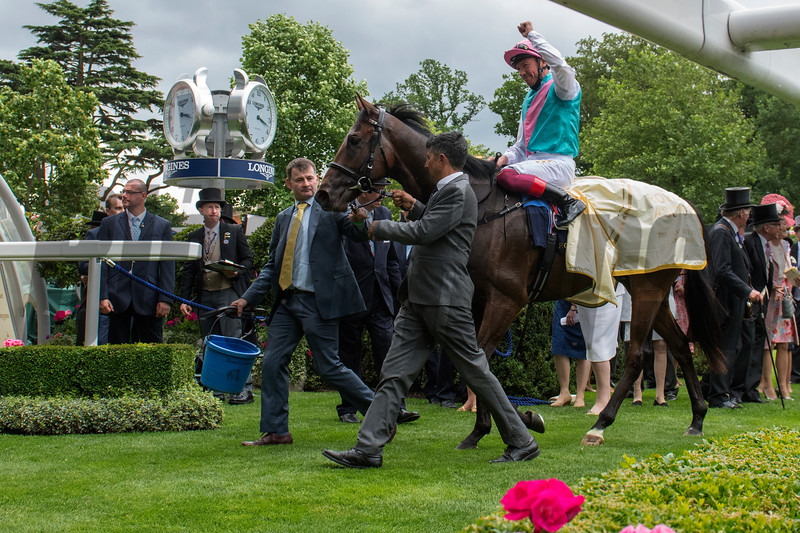 Calyx and Frankie Dettori win the G2 Coventry Stakes; Royal Ascot; Ascot UK; 6/19/18; photo by Mathea Kelley