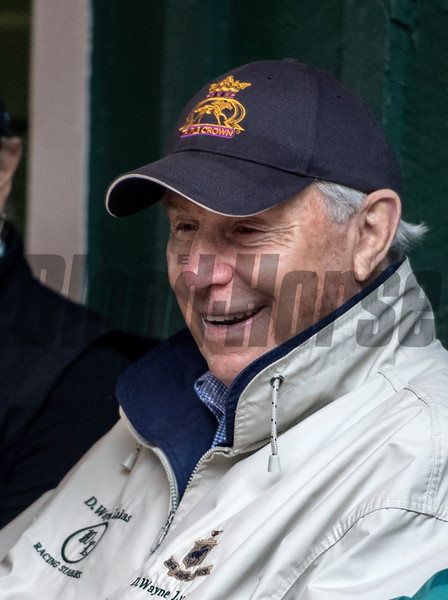 Trainer D. Wayne Lukas in the barn area of the Pimlico Race Course Friday May 18, 2018 in Baltimore, MD.  Photo by Skip Dickstein