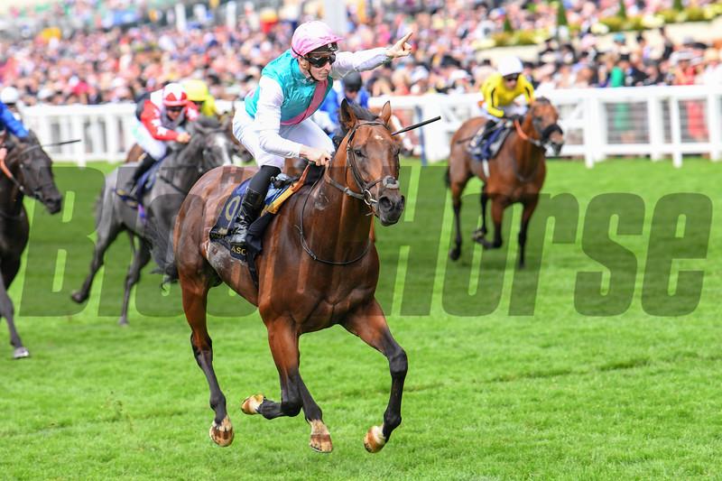 Expert Eye, James McDonald, win the G3 Jersey Stakes, Royal Ascot, Ascot Race Course, Ascot, UK, 6-20-18, Photo by Mathea Kelley