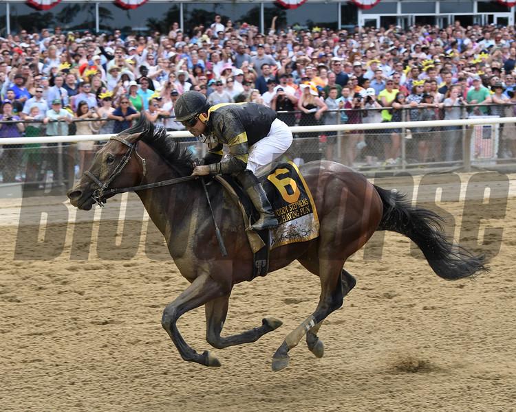 Still Having Fun wins 2018 Woody Stephens Stakes at Belmont Park June 9, 2018. Photo: Coglianese Photos/Chelsea Durand