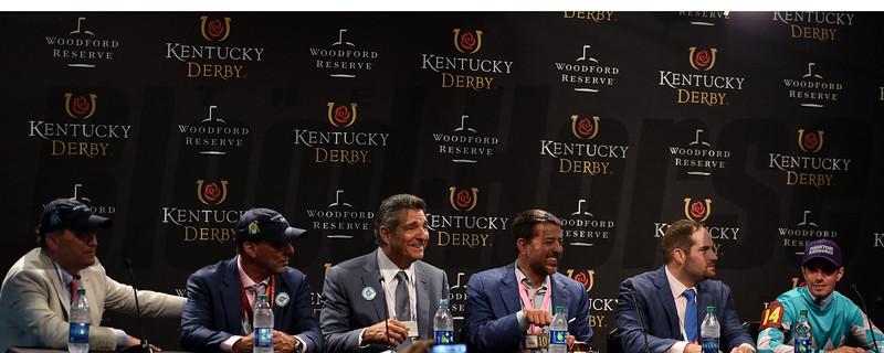 2018 Kentucky Oaks Press Conference<br /> Dave Harmon Photo
