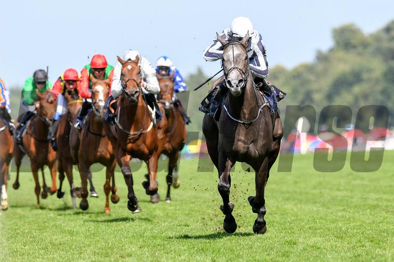 Alpha Centauri, Colm O'Donoghue, win the G1 Coronation Stakes, Royal Ascot; Ascot Race Course; Ascot; UK; 6-21-18; Photo by Mathea Kelley