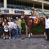 Kevin Carmona rode his first winner aboard Art Major at Gulfstream Park on July 21, 2018