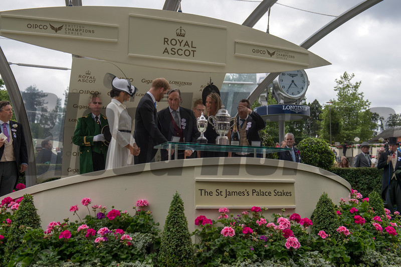 Without Patrol, Frankie Dettori win the G1 St James's Palace Stakes, Royal Ascot, Ascot Race Course, Ascot, UK, 6-19-18, Photo by Mathea Kelley, Tayna Gunther, John Gosden