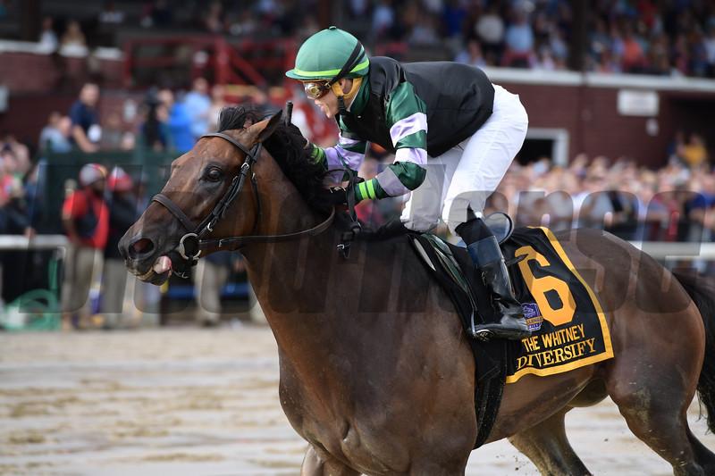 Diversify; Irad Ortiz Jr.; Whitney Stakes; G1; Saratoga Race Course; August 4; 2018<br /> Coglianese Photos/Joe Labozzetta