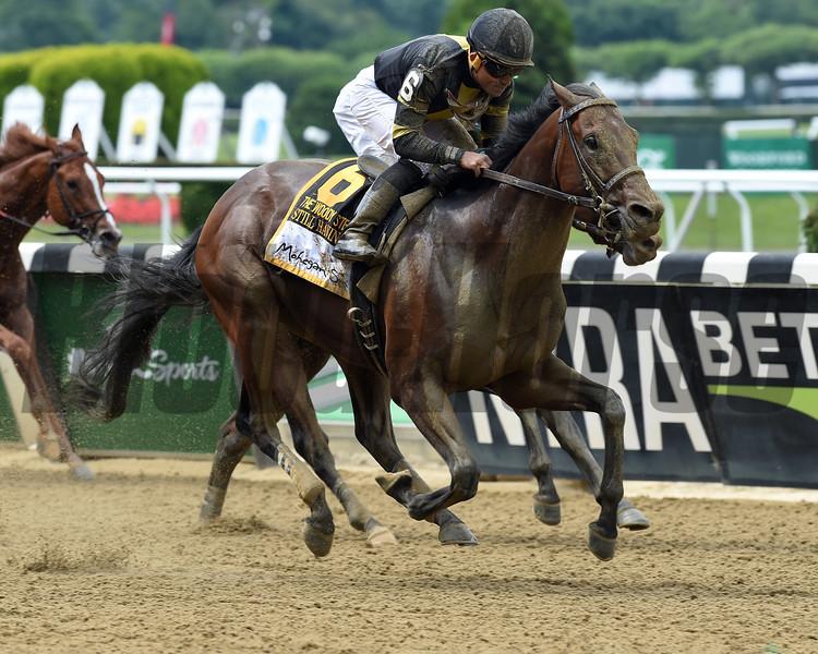 Still Having Fun wins 2018 Woody Stephens Stakes at Belmont Park June 9, 2018. Photo: Coglianese Photos/Dave Alcosser