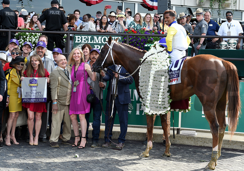 Bee Jersey with Ricardo Santana Jr. wins the Runhappy Met Mile (G1)<br /> Dave W. Harmon Photo