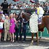 Bee Jersey with Ricardo Santana Jr. wins the Runhappy Met Mile (G1)<br /> Dave W. Harmon Photo