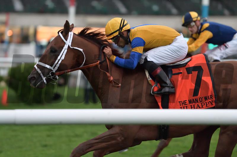 Hi Happy wins the 2018 Man o' War Stakes<br /> Coglianese Photos/Joe Labozzetta