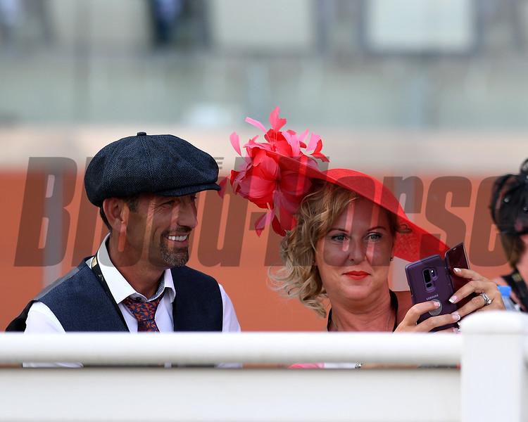scene, fashion, hats, crowd, fans, Dubai World Cup; Meydan Race Course; Dubai; March 31 2018