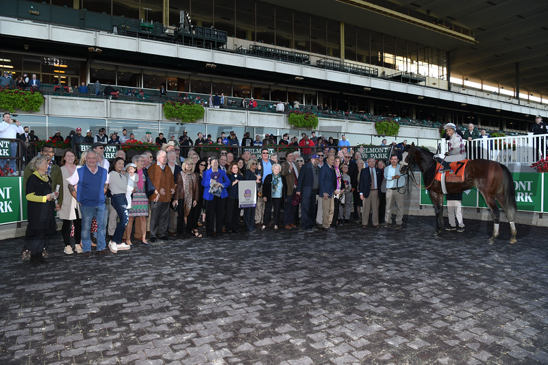 Tiz the Law wins the 2019 Champagne Stakes at Belmont Park<br /> Coglianese Photos