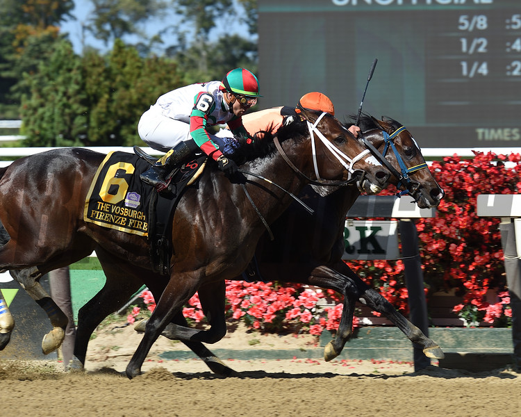 Imperial Hint wins the 2019 Vosburgh Stakes at Belmont Park     <br /> Coglianese Photos/Janet Garaguso